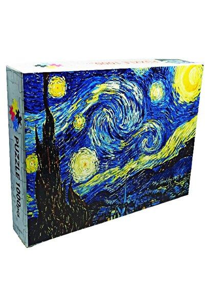 KARGA 1000 Parça Puzzle Tablo Starry Night-van Gogh-kiss-michelengelo-friends-harry Potter-gumball