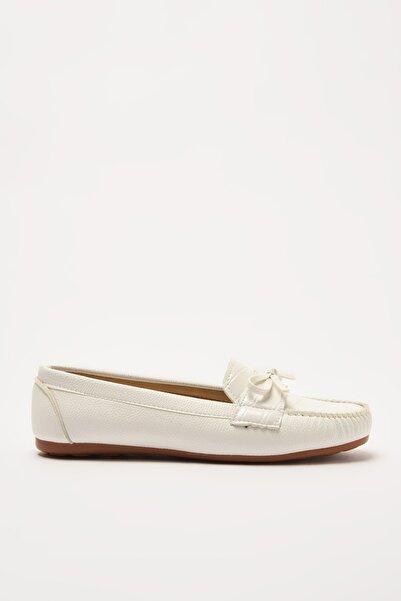 Yaya by Hotiç Beyaz  Loafer Ayakkabı 01AYY212300A900