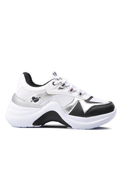 Twingo Kadın Beyaz Gümüş  Spor Ayakkabı