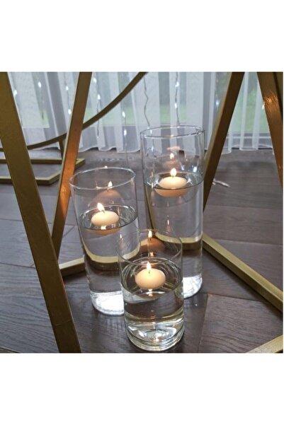 GLASSY 3'lü Cam Silindir Set (10 Çap 10-15-23 Cm)