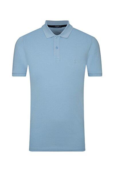 SÜVARİ Erkek Buz Mavisi Slim Fit Polo Yaka T-shirt