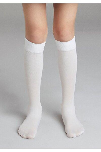 Penti Çocuk Beyaz Mikro 40 Dizaltı Çorap 3'lü