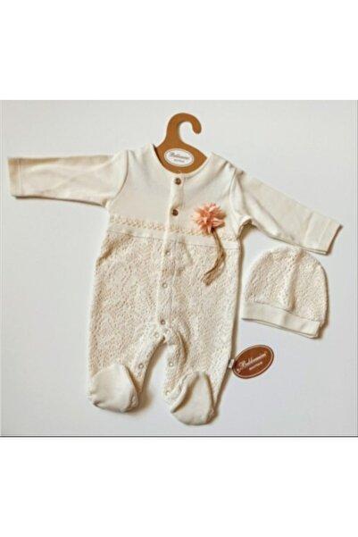 Bebbemini Prematüre Kız Bebek Dantelli Lüx Tulum Seti 50 cm