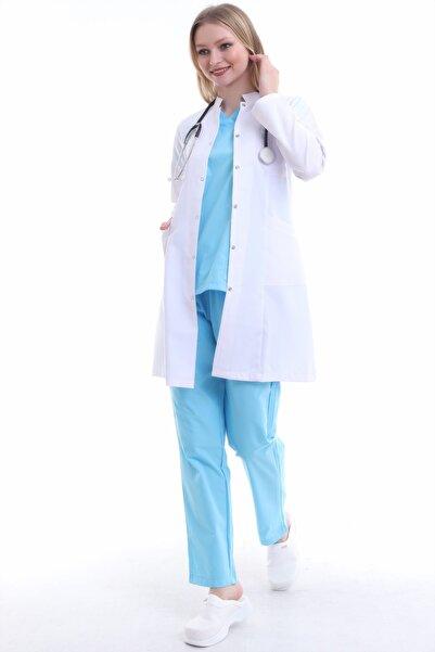Esen Forma Kadın Hakim Yaka Uzun Boy  Doktor Önlüğü