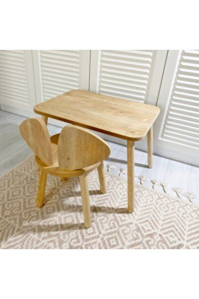 The Mimar Kahverengi Montessori Çocuk Masa Ve 2 Sandalye