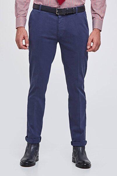 Hemington Erkek Koyu Mavi Kadife Dokulu Chino Pantolon