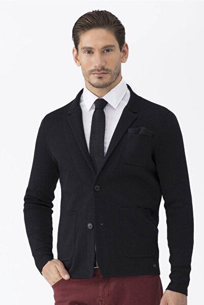 Hemington Erkek Siyah Triko Ceket