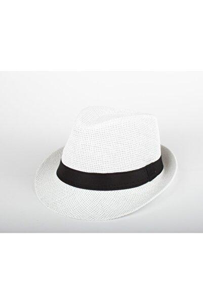 Cosswell Erkek Beyaz Hasır Fötr Şapka