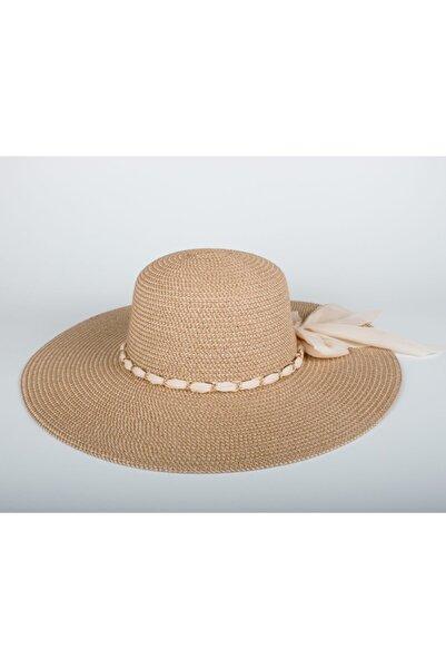 Cosswell Kadın Bej Hasır Plaj Şapkası