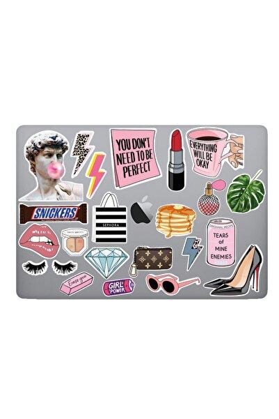Hepsi Şirin Femme Temalı Laptop & Tablet Sticker Seti