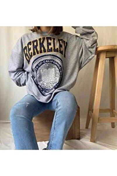 Kadın Gri Berkeley Baskılı Seatshirt