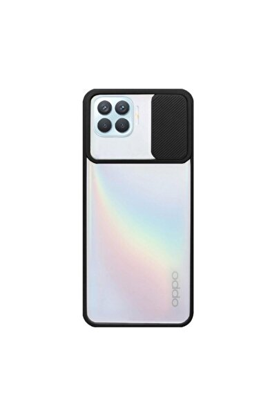 Oppo Nihcase Reno4 Lite Kılıf Lensi Kamera Korumalı Silikon Siyah