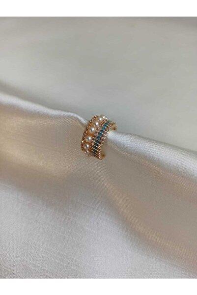 Trendy Design Zirkon Taşlı İnci Kıkırdak