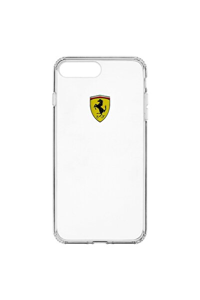 Ferrari Lisanslı Iphone 7 Plus / 8 Plus Şeffaf Silikon Kılıf