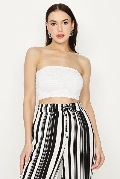 Select Moda Kadın Beyaz Gipeli Büstiyer