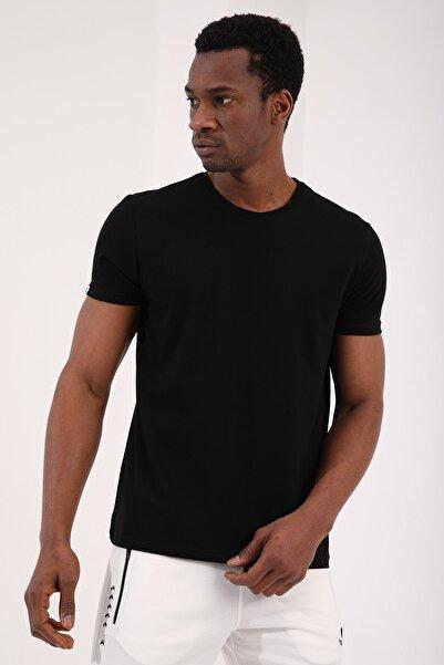 Tommy Life Siyah Erkek Basic Kısa Kol Standart Kalıp O Yaka T-shirt - 87911