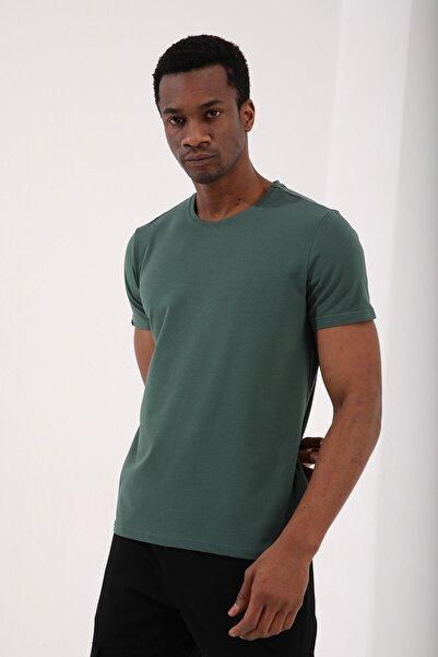 Tommy Life Yeşil Erkek Basic Kısa Kol Standart Kalıp O Yaka T-shirt - 87911