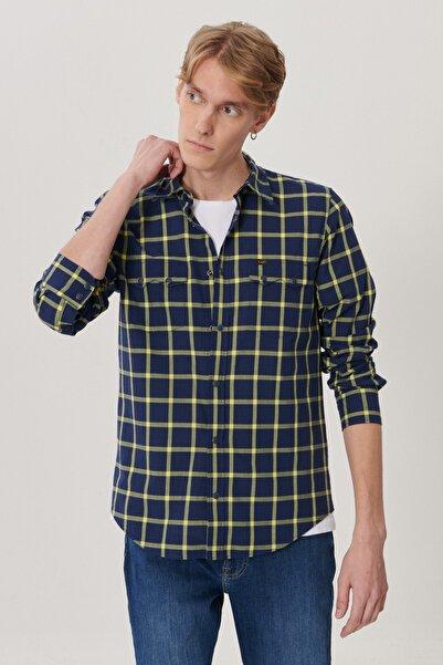 Lee Erkek Lacivert Regular Fit Uzun Kol Gömlek