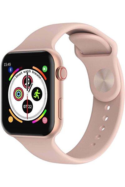 Shotex Huawei P40 Lite Cep Telefonu Uyumlu Rose Gold Akıllı Saat Smart Dijital Watch