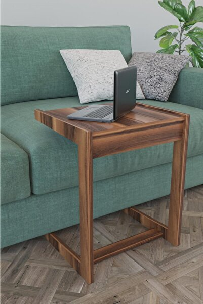 Haus Modüler C Sehpa Koltuk Sehpası Yan Sehpa Zigon Sehpa Servis Sehpası Koltuk Laptop - Ceviz
