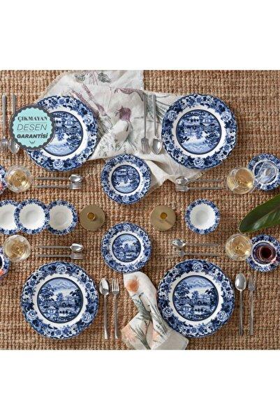Karaca Blue Odyssey  26 Parça 6 Kişilik Kahvaltı Takımı