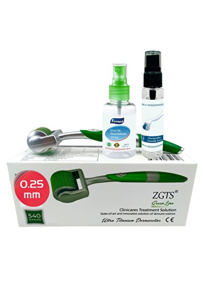 Zgts Green Line Dermaroller 0.25 mm Titanyum 540 İğneli Göz Altı Göz Çevresi İçin Derma Roller