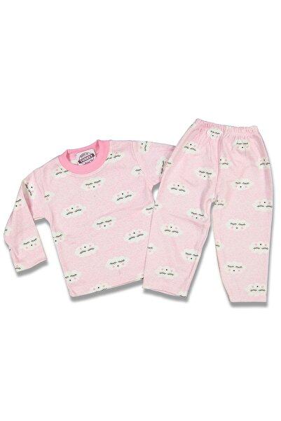AyCaTa Kız Bebek Bulutlu Pijama Takımı
