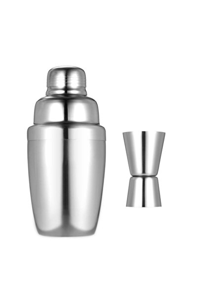 By Tüfekçi Biradlı Paslanmaz Çelik Shaker 500 Cl Ve 4/2 Cl Jıgger Paslanmaz Çelik