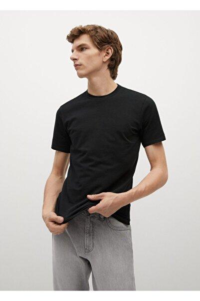MANGO Man Pamuklu Streç Tişört