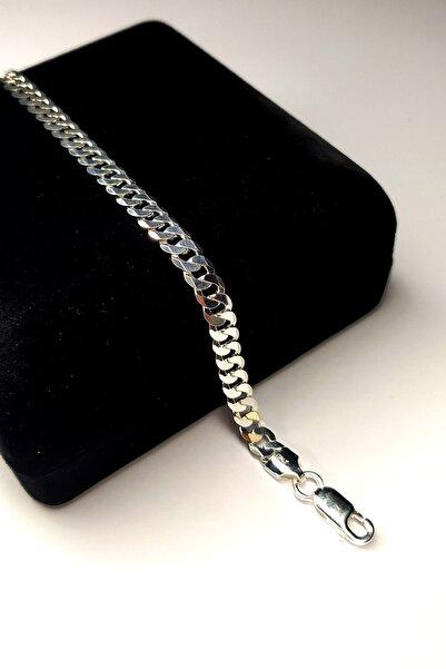 Piraye Silver 925 Ayar Gümüş Italyan Gurmet Bileklik 6 Mm Genişlik 21 Cm Uzunluk