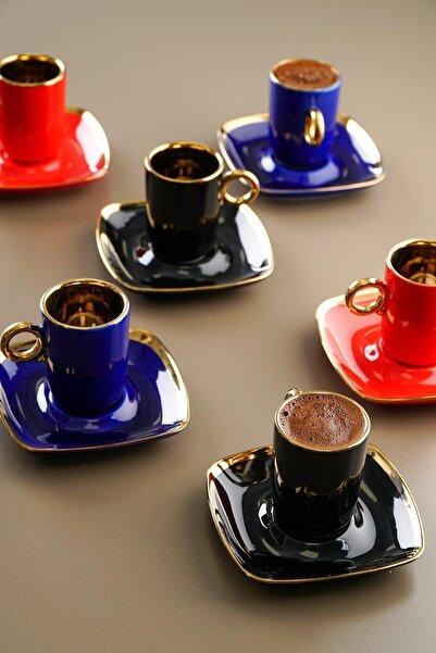ACAR 6lı Porselen Kahve Fincan Takımı