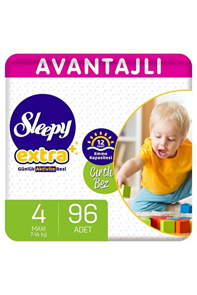 Sleepy Extra Avantajlı Bebek Bezi 4 Numara Maxi 96 Adet