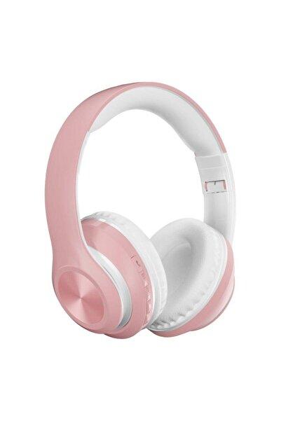 POLYGOLD P68 Bluetooth Kulaklık Kablosuz Stereo Kulaklık Macaron Kulaklık Renkli-pembe