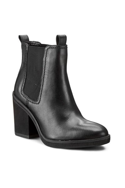 CLARKS Siyah Deri Kadın Ayakkabı