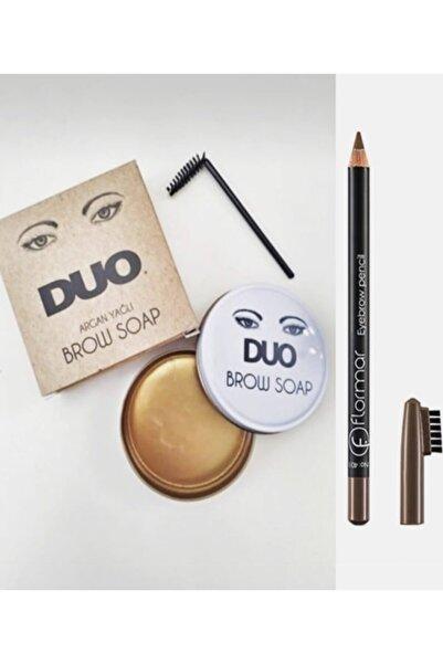 Flormar Eyebrow Pencil Kaş Kalemi Duo Argan Yağlı Kaş Sabitleyici Sabun 20ml Set