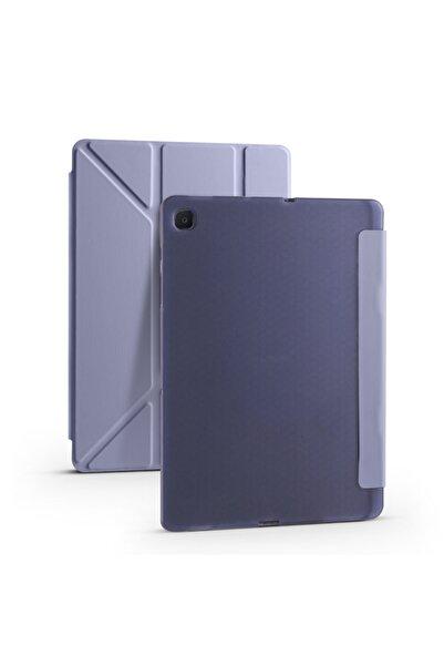 zore Samsung Galaxy Tab A7 10.4 T500 Tri Folding Smart With Pen Kalem Bölmeli Stantlı Tablet Kılıfı