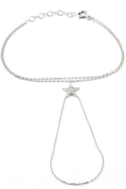 Welch Kadın Taşlı Yıldız White 925 Ayar Gümüş Şahmeran Bileklik WB-96