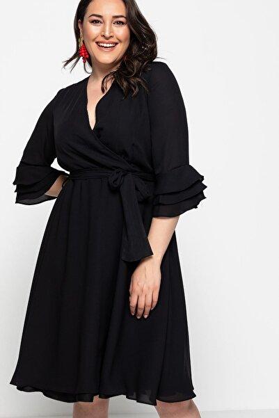 Melisita Kadın Siyah Elbise fw01732eb