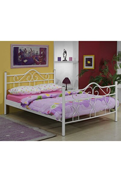 Metalia Gold Metal Karyola Bordo 160x200