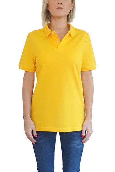 Kadın Sarı T-Shirt POLO-F-SA