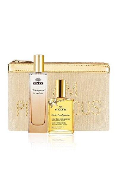 Nuxe Prodigieux Le Parfum 50 ml + Huile Prodigieuse Çok Amaçlı Kuru Yağ 30 ml + Çanta 30115305Kc516