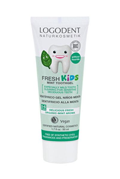 0-6 Yaş Çocuklar İçin Nane Özlü Organik Diş Macunu - 50 ml