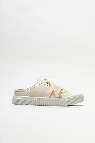 Elle Shoes Kadın Bej Düz Terlik