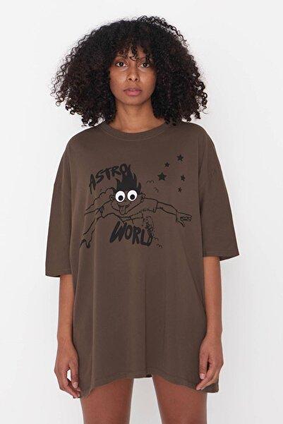 Addax Baskılı T-shirt P9527 - G10