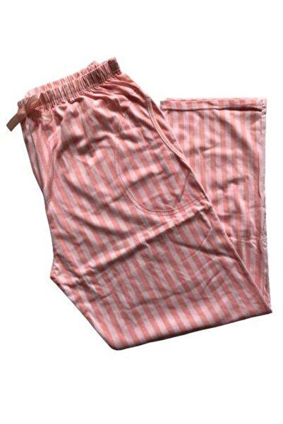 Pijamoni Kadın Pudra Battal Pijama Altı