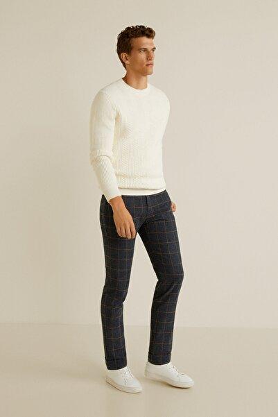 MANGO Man Erkek Açık/Pastel Gri Pantolon 43010480
