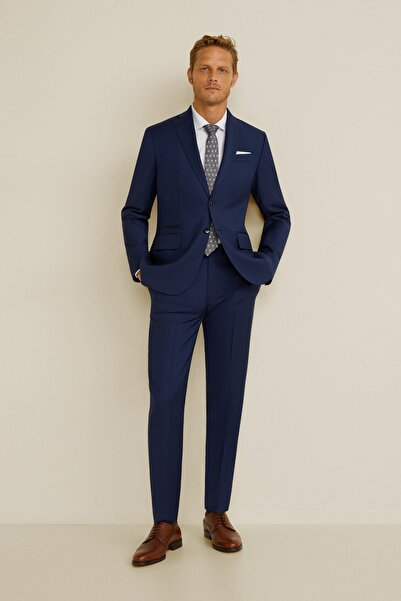MANGO Man Erkek Mürekkep Mavisi Pantolon 43030912