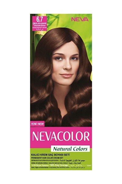 Neva Color Saç Boyası Seti 6.7 Çikolata Kahve 8698636612289