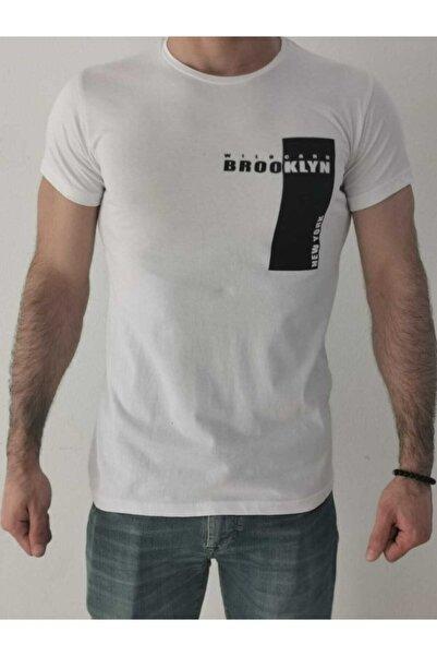 Ceo Erkek Beyaz  Baskılı Tişört