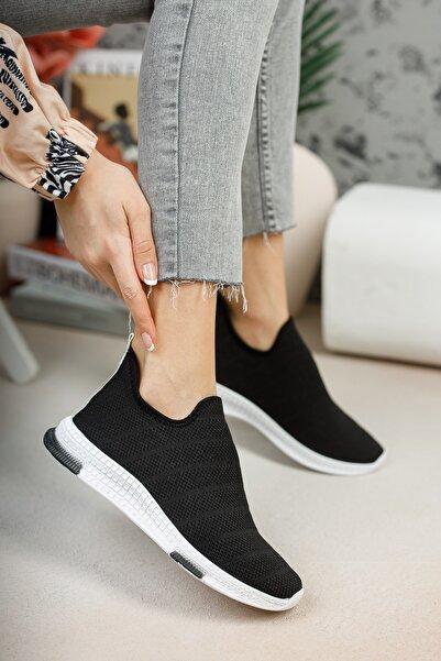 meyra'nın ayakkabıları Kadın Siyah Çorap Sneaker